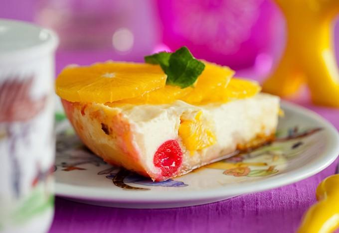 Нежная запеканка с фруктами