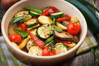 Тушеные или печеные овощи