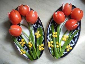 Закуска Тюльпаны к 8 марта