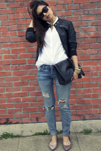 sky-blue-zara-jeans-black-faux-leather-ellison-jacket-white-zara-shirt