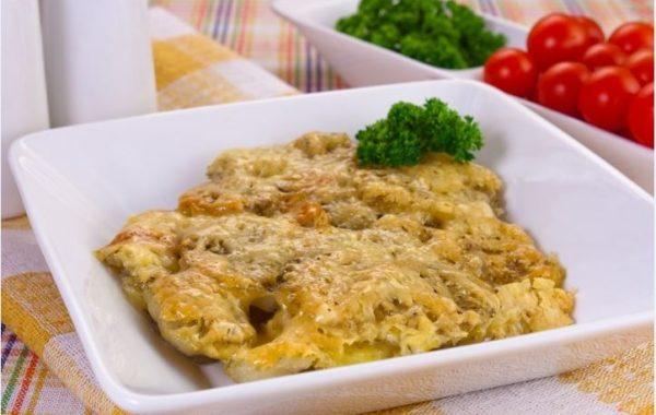 Картофель запечённый с грибами и сыром